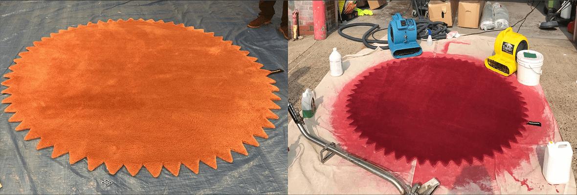CARPET RESTORATION LONDON-carpet colour changes